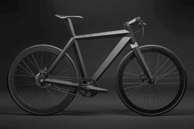 ステルス攻撃機インスパイヤされた「B-9 NH BLACK EDITION」  黒バックだと見えにくい自転車だ