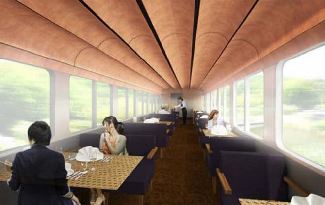すべての座席が食事を楽しめる空間