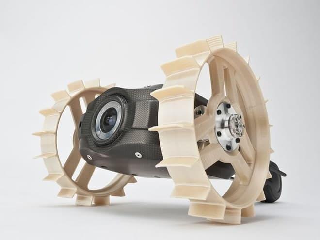 2輪探査機「テトリス」試験版。ムーンレイカーとともに軽量、小型が特徴