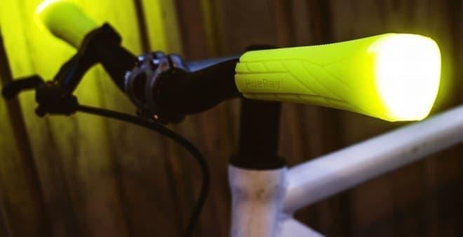 光る自転車用ハンドルグリップ「HueRay!」