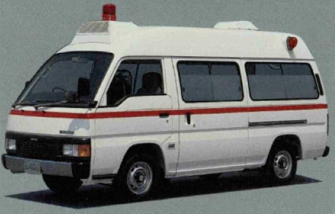キャラバン型救急車も