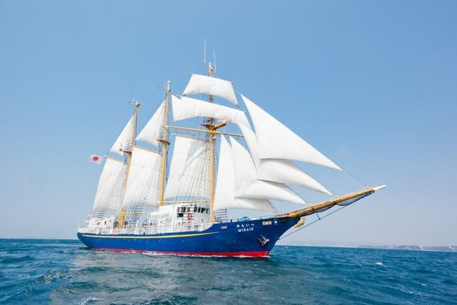 帆船「みらいへ」、一般の人でも乗れるのが特徴だ (C)Photo:D.Taneshima