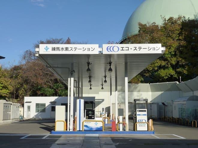 練馬水素ステーション、東京ガスが運営してます。全部合わせてもまだまだ数が少ない