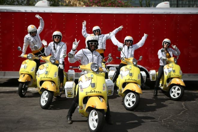 ぐでたまスクーター in ロス(写真提供:サンリオ)