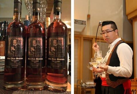 シェリー酒について、専門家の中瀬航也氏(右)が詳しく語ってくれる