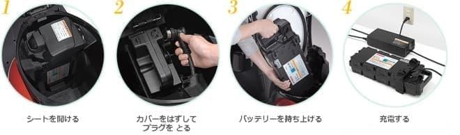 「E-Vino」での充電手順  電動アシスト自転車なみに簡単?