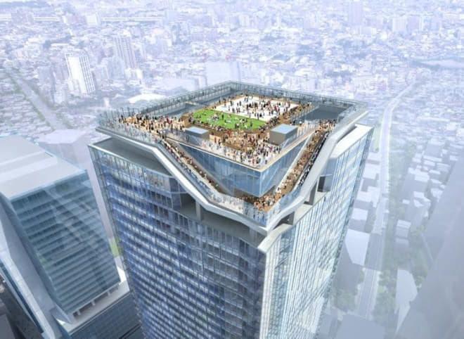 展望施設は、超高層ビルの屋上を全面的に活用したもの  圧倒的な開放感を味わえる  (イメージ画像)