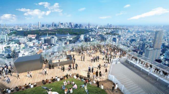 代々木公園とその後方に広がる新宿の超高層ビル群方面の景色  (イメージ画像)