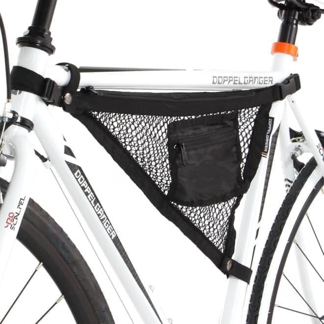 手回り品を入れておける自転車用収納ツール「バイシクルハンモック」