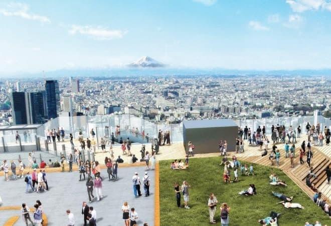 渋谷の高層ビルに展望施設設置決定!  (イメージ画像)