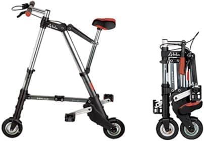 オリジナル版「A-bike」  走行時(画像左)と折り畳み時(画像右)