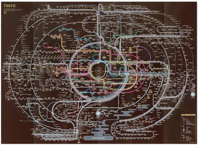 マンダラのような英語の路線図(画像出典:ZERO PER ZERO)