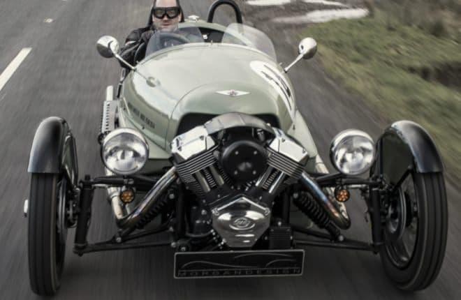 モーガン「スリーホイーラー」のV型2気筒エンジン  なにもかもむき出しの空冷式だ