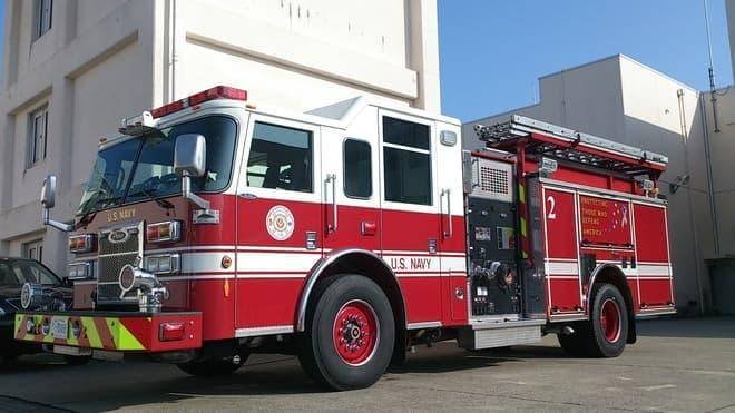 出展候補の1つ、米海軍日本管区司令部消防隊の消防車
