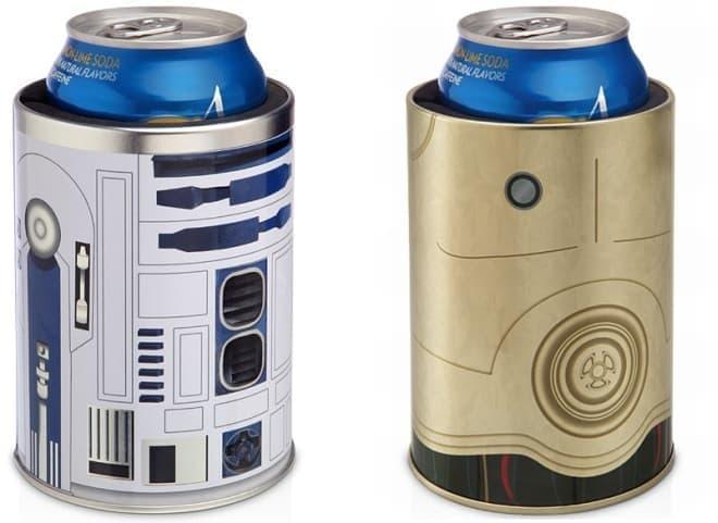 「R2-D2缶クーラー」(画像左)と「C-3POメタル缶クーラー」(画像右)