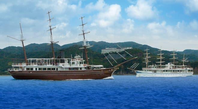 うずしおクルーズの船、咸臨丸と日本丸