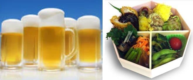 ビールはサッポロ、おつまみは薬膳