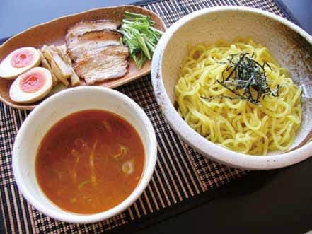 「かんずりつけ麺」(800円)、越後川口SA(下り)で