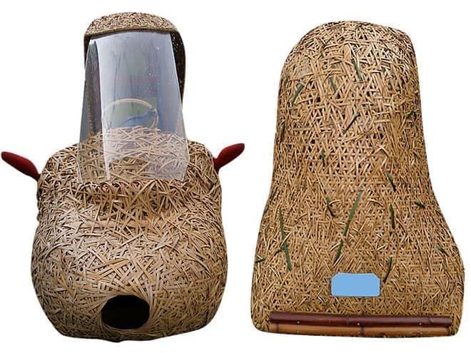 京都大学や東洋竹工などが連携して作った「竹かご型電気自動車」  (トップ画像も「竹かご型電気自動車」)