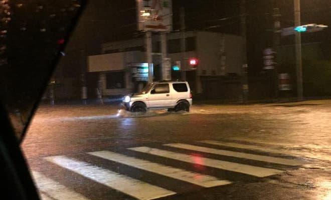 9月9日夜、撮影地点は栃木市から国道50号に向かうあたり  (Twitterユーザー@Taku600RRさんの厚意により許諾を得て転載)