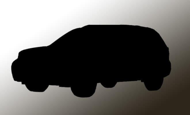 新型SUVのシルエット