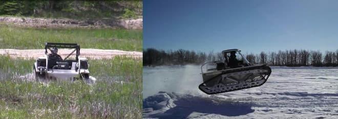 沼地や新雪も平気