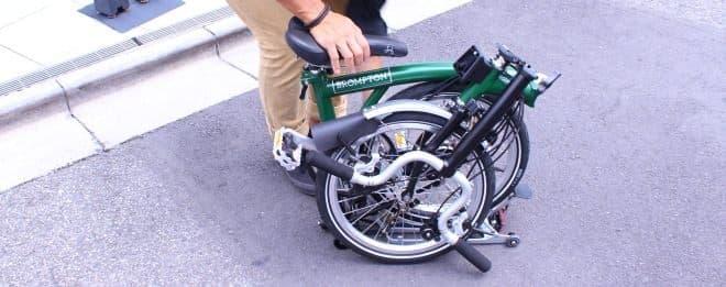 折り畳むとほぼタイヤサイズになる自転車