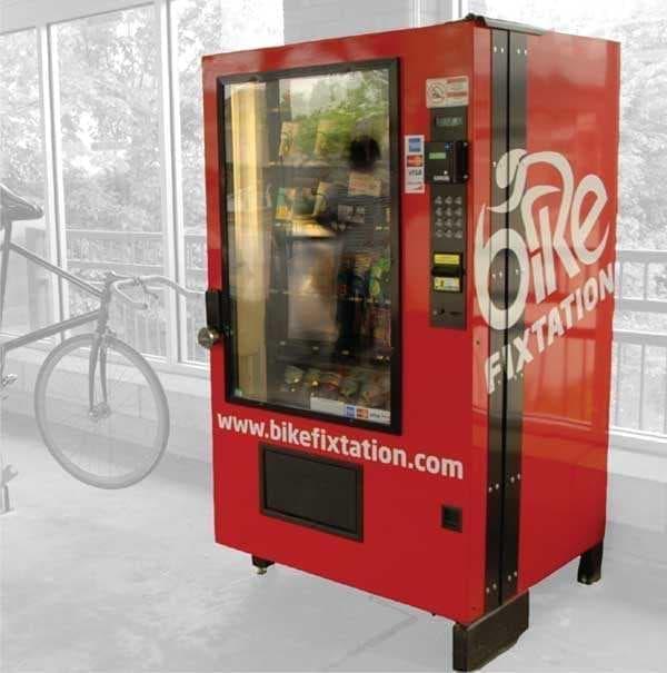 米国Bike Fixtationの開発している自動販売機  24時間買えるのが魅力!