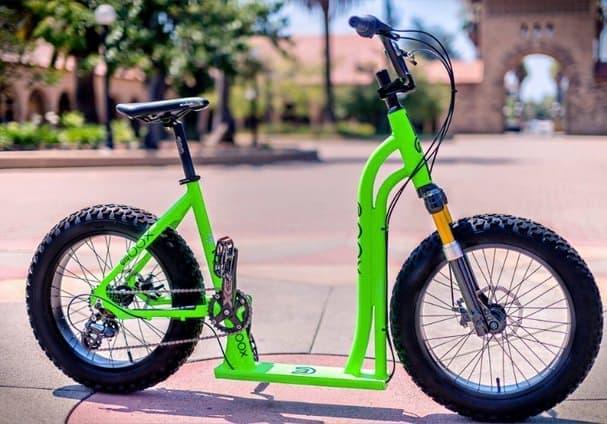 自転車とスクーターのハイブリッドビークル「Moox Bike」