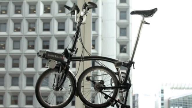 折り畳み自転車も、電動バイクになる!