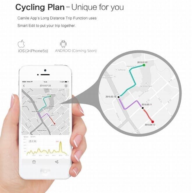走行データはスマートフォンアプリで確認し、仲間とシェアできる