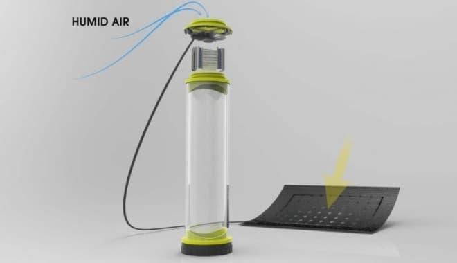 走行による空気の取り入れができないので、  ソーラーパネルの電力でファンを回す