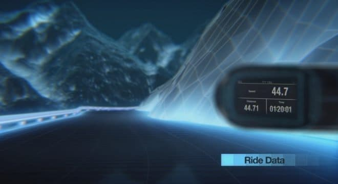 「Varia Vision」を装着した際のサイクリストの視界イメージ