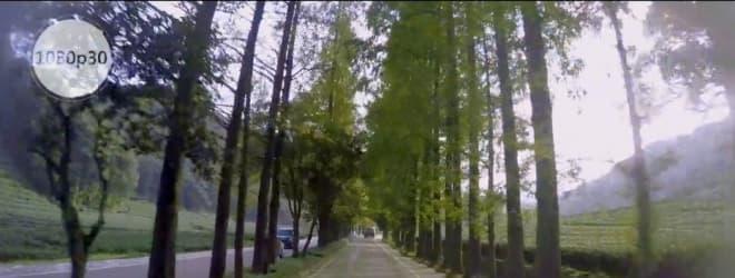 走行時の様子を動画で保存可能