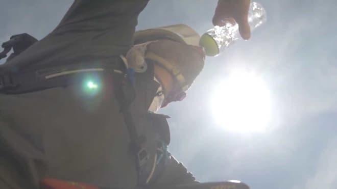 1時間の走行で0.5リッターの飲料水を取り出せる