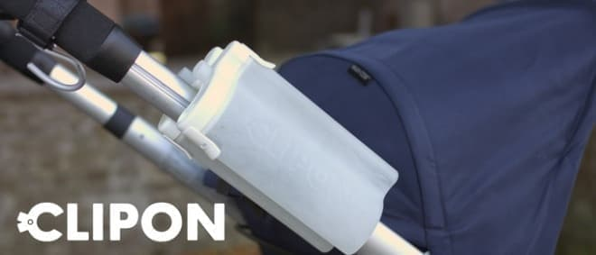 「CLIPON」はS字型の2つのボトルをクリップでくっつけたもの  クリップは強力だそうです