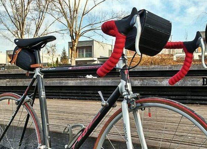 廃棄されたタイヤチューブをリサイクルして作られた「Ziggie Bag」