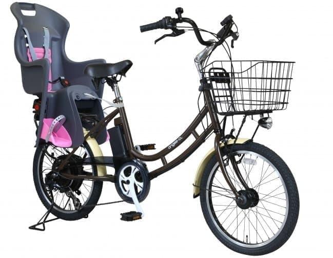 「防災する自転車」のチャイルドシート付タイプ  「エアロアシスタント angee-CL+L2」