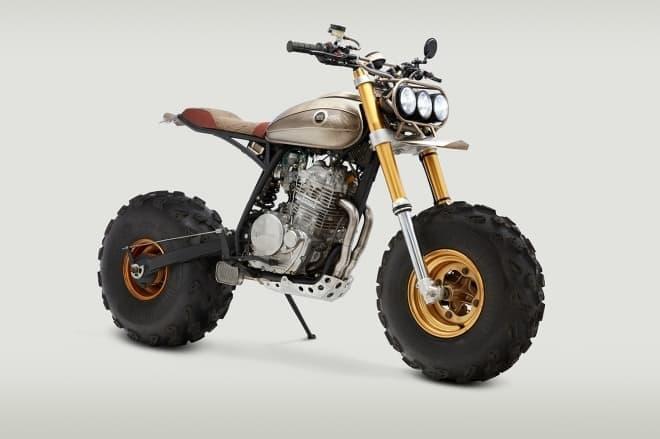 バギー用のタイヤが取り付けられたカスタムバイク「BM650」