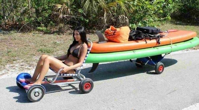 サーフボードの運搬にも利用可能
