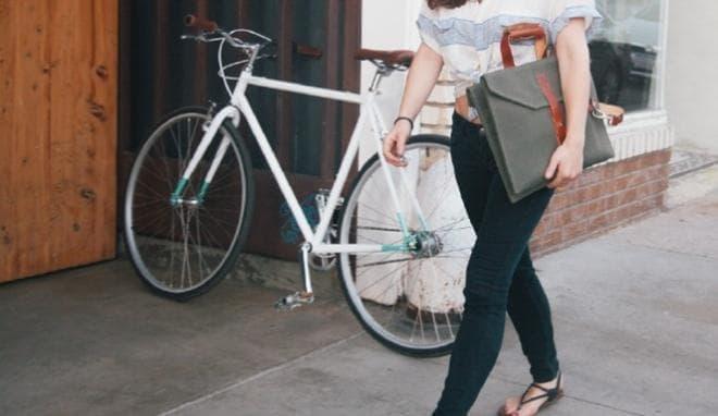 自転車から取り外して持ち歩いても「OK」なルックス