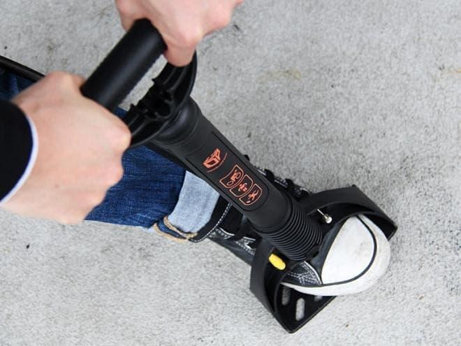駐輪場に常設可能な自転車用空気入れ「能率ポンプ」発売