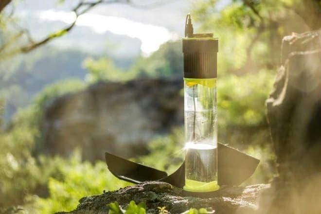 空気中に含まれる水分から飲み水を作り出す「Fontus」  クラウドファンディングスタート