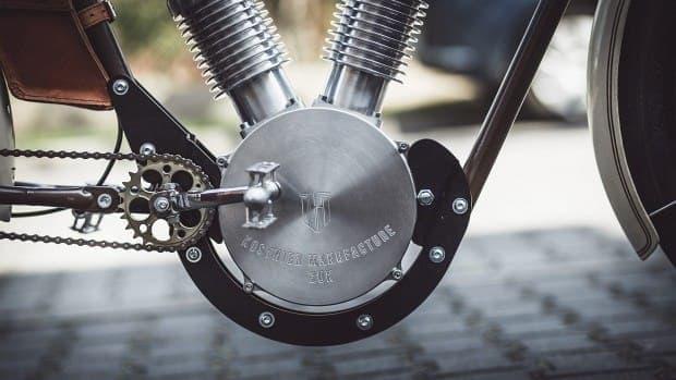 モーターは、ハーレーダビッドソンのV型ツインエンジン風?