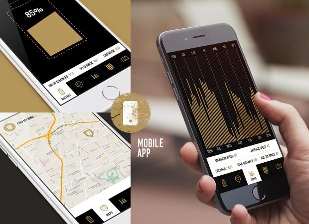 バッテリー残量などは、スマートフォンアプリでチェックできる