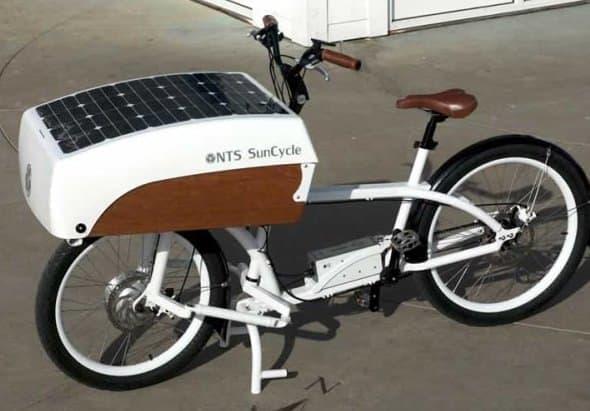 太陽電池で走る電動アシスト自転車「NTS SunCycle」
