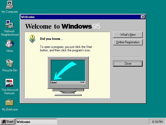 Windows 95画面