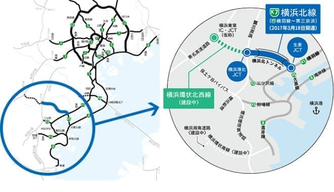 横浜北線(横羽線~第三京浜)開通