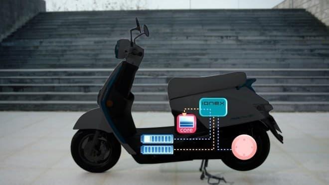 最大で200キロ走れる電動バイクKYMCOの「Ionex」