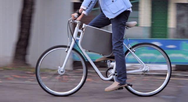 アタッシュケース(?)付きの自転車―STARTS JUMPの「BICYCLOAD」